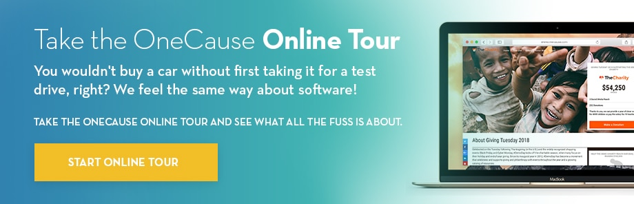 Take an Online Tour of OneCause Software