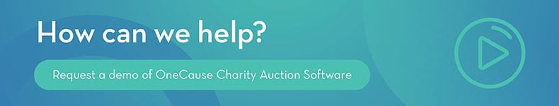 Request a Demo of OneCause Charity Auction Software