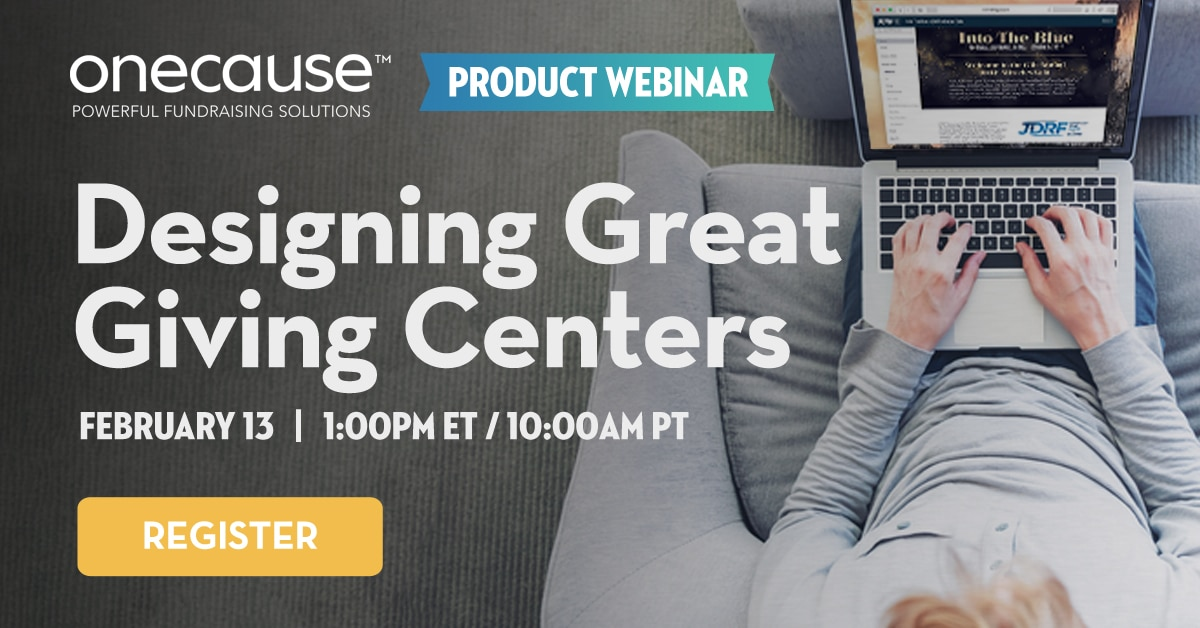 Product Webinar: Designing great giving centers