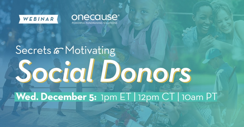 WEBINAR Secrets to Motivating Social Donors