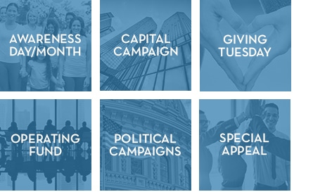Online Giving Software can be used to collect donations for awareness days, capital campaigns, giving tuesday, operating fund campaigns, political campaigns and special fundraising appeals.