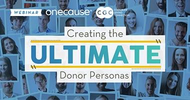 Webinar Example: Crete the Ultimate Donor Personas