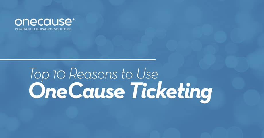 Top 10 Reasons to Use Onecause Infographic