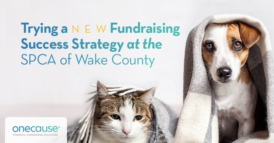 Trying a New Fundraising Success Strategy at the SPCA of Wake County
