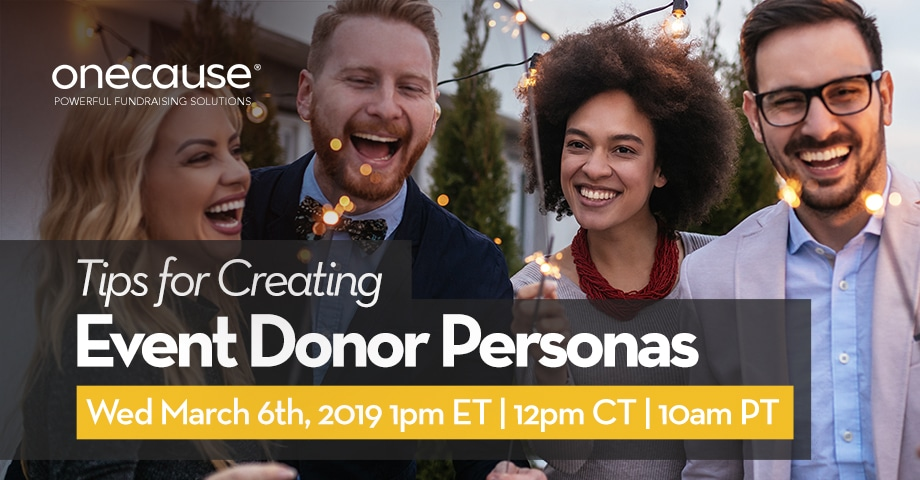 Tips for creating Event Donor Personas