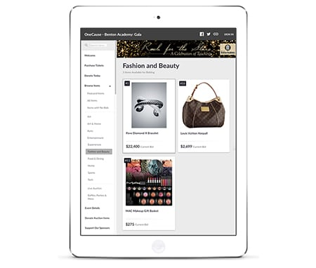 Use your online auction software to customize the branding, layout, and packaging of items.