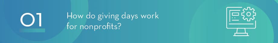 How do giving days work for nonprofits?