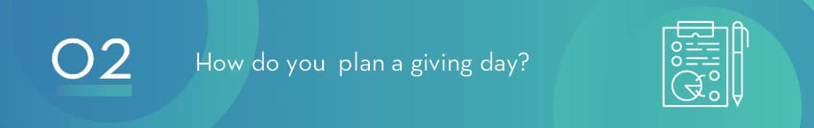 How do you plan a giving day campaign?