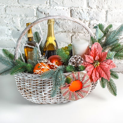 Themed gift baskets are the most popular penny social items.