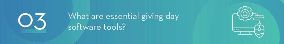 What tools will you need to plan an effective giving day campaign?