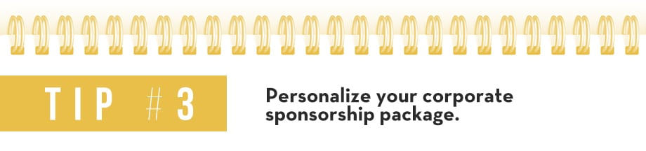 Tip 3 Corporate Sponsorship Package