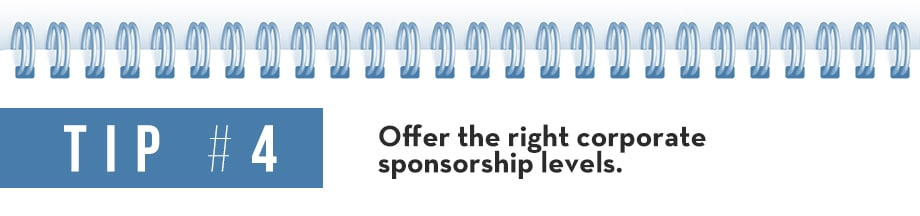 Tip 4 Corporate Sponsorship Package
