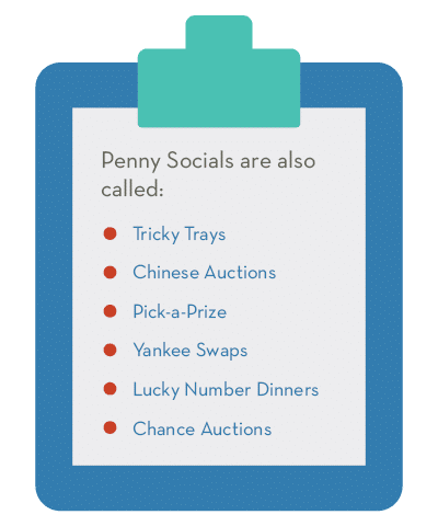 Penny socials go by a number of different names, like tricky trays.