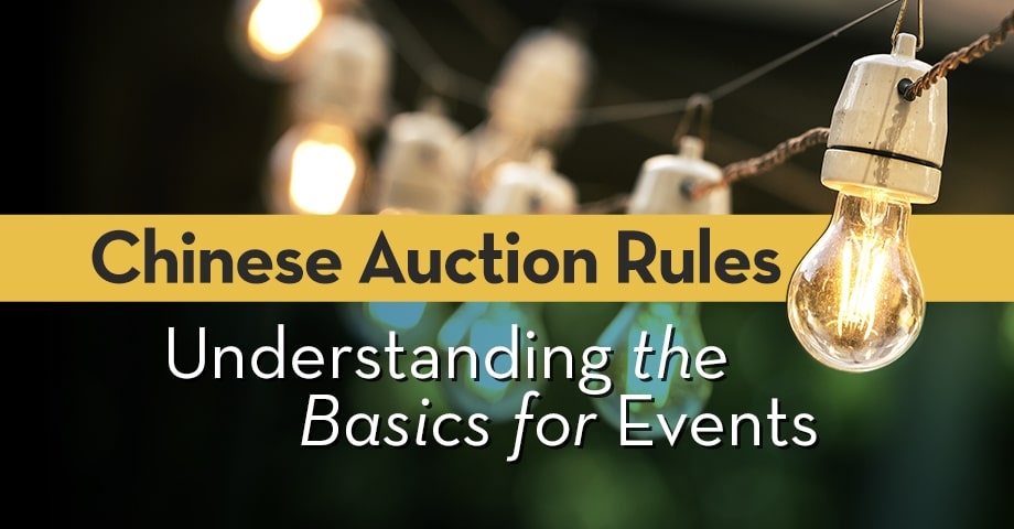 Chinese Auction Rules: Understanding the Basics for Events