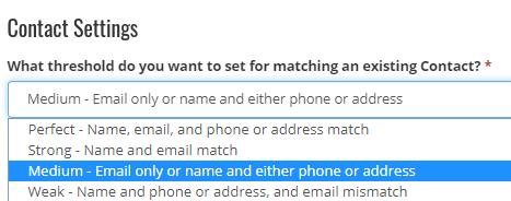 7. Contact Settings
