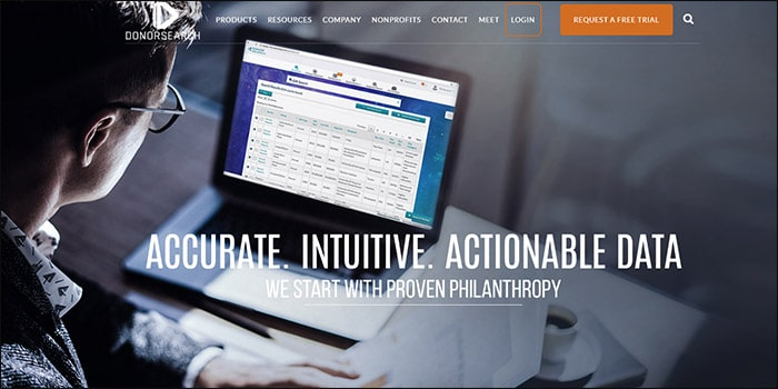 Learn more about DonorSearch's fundraising software.