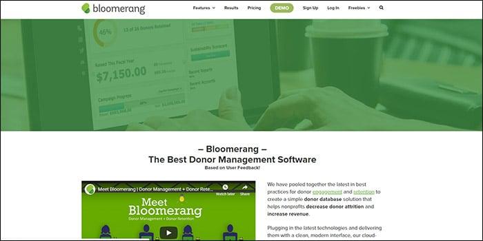 Explore Bloomerang's nonprofit software.