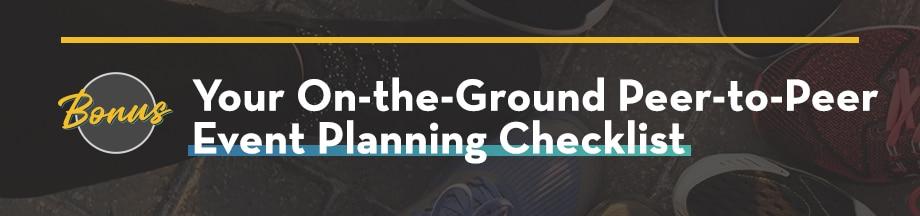 Bonus On-the-Ground Peer-to-peer Event Planning Checklist