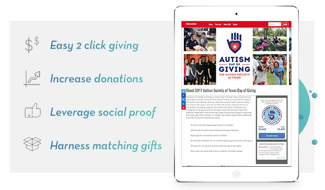 Giving Tuesday on mobile device