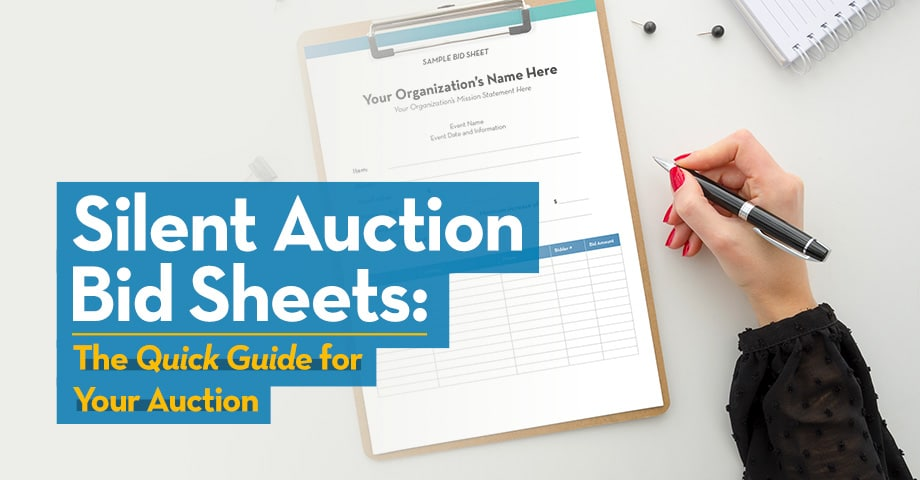 Silent Auction Bid Sheets: The Quick Guide to Your Auction