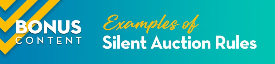 Bonus Content: Examples of Silent Auction Rules