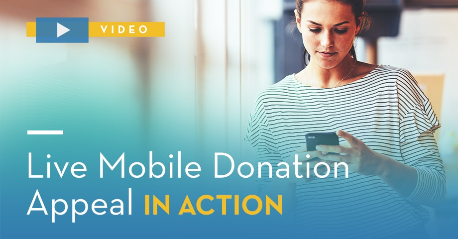 Live Mobile Donation Appeal in Action [Video]