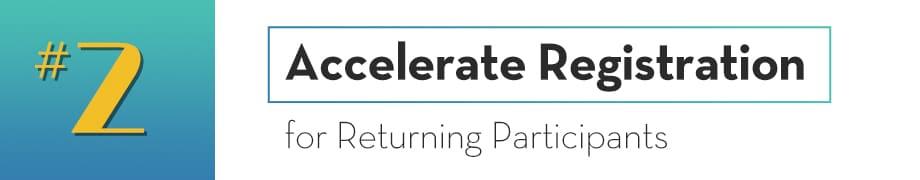 Registration for Returning Participants