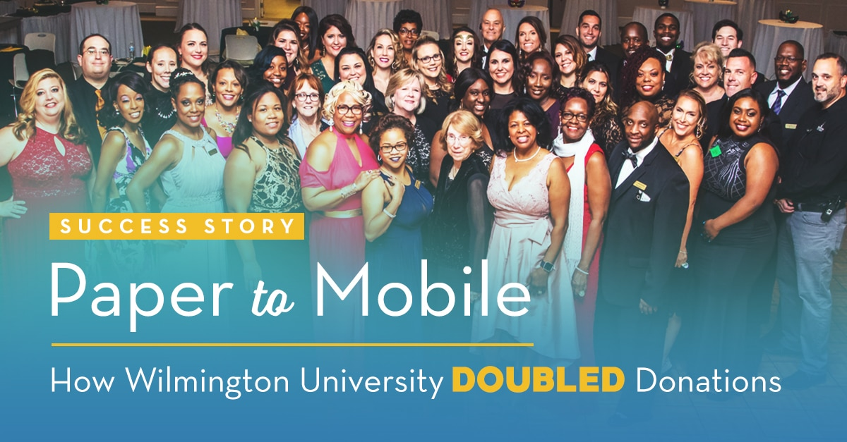 Paper to Mobile: How Wilmington University Doubled Donations