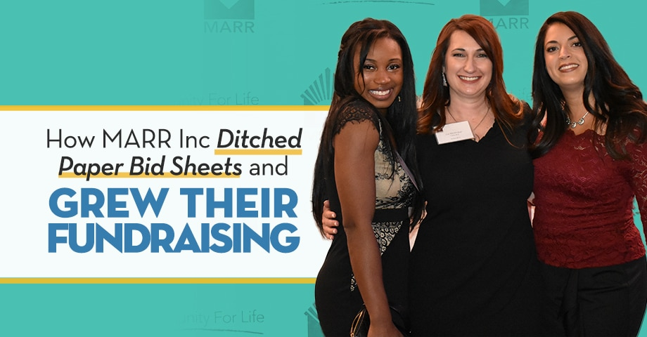 How MARR ditched paper bid sheets and grew their fundraising