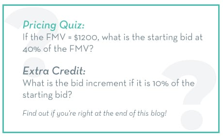 How to Price Silent Auction Items Pricing Quiz