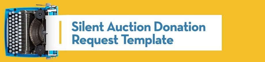 Silent Auction Donation Request Template