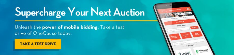 Supercharge your next auction with OneCause