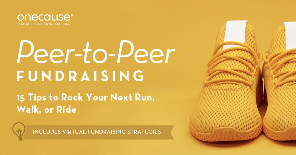 P2P Run walk Ride - Includes Virtual Fundraising Strategies