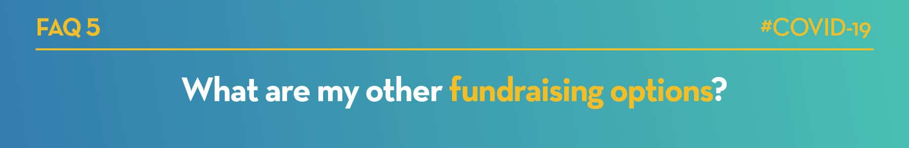 What are my other fundraising options?