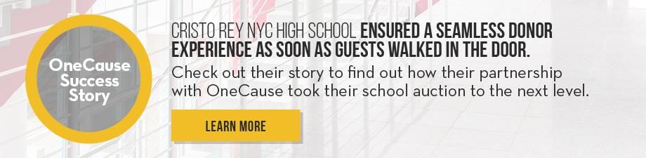 OneCause Cristo Rey NYC High School Success Story