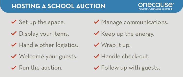 Follow the steps listed below to host your school auction from beginning to end.