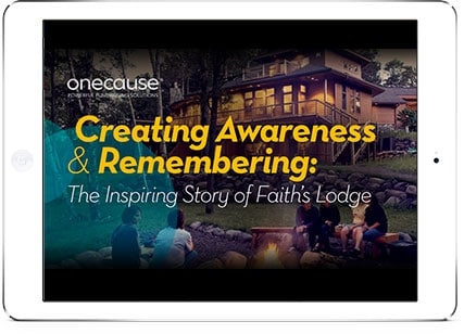 eBook cover: Creating Awareness & Remembering: The Inspiring Story of Faith's Lodge