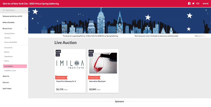 Girls, Inc. Live Auction Tab in preview only mode   https://one.bidpal.net/ginycgala/welcome