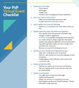 Pivit Your Event Checklist