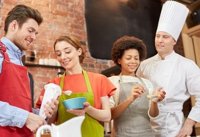A high-end cooking class is an effective auction item idea.