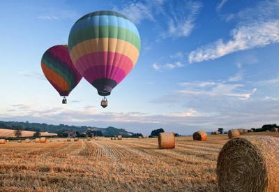 Hot air balloon rides can be exciting auction item ideas for kids.