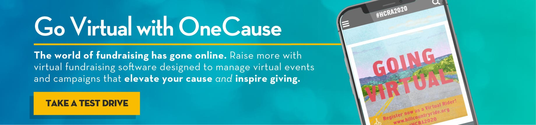 Go Virtual With OneCause. Take a test drive today.