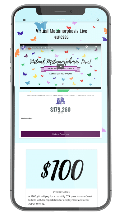 Lincoln Park Community Services: Shattering Goals with Virtual Fundraising Online Giving