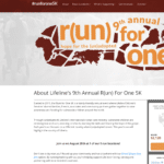 Lifeline's 9th Annual R(un) For One 5K