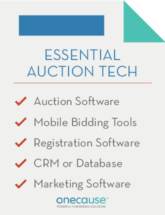 These are the essential pieces of a charity auction toolkit.