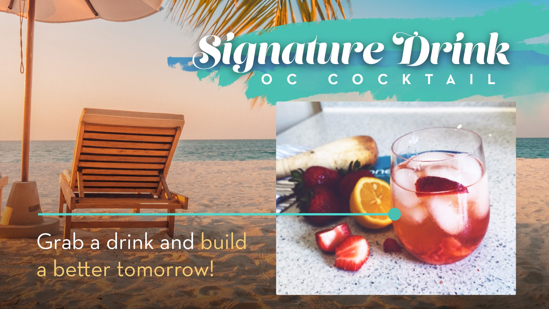OneCause Virtual Event Signature Drink