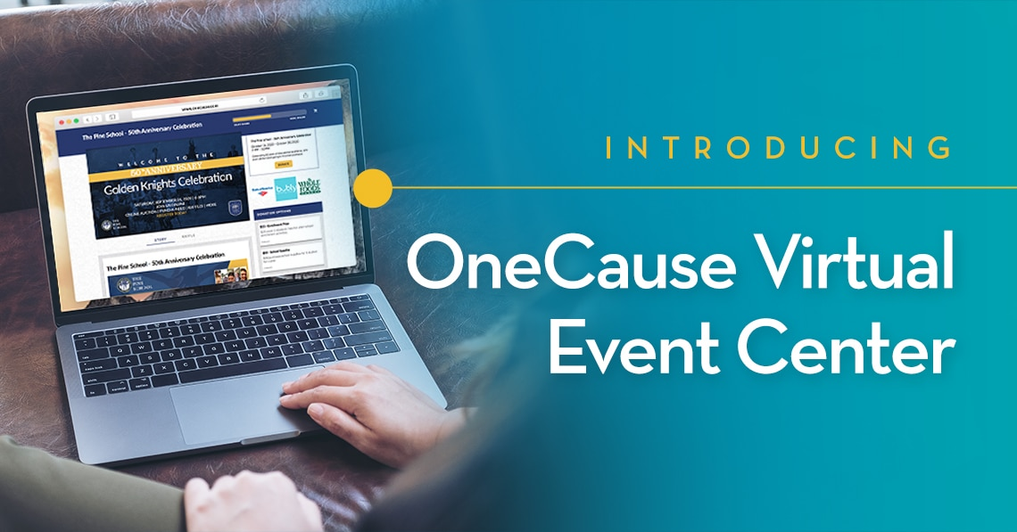 Introducing Virtual Event Center - OneCause