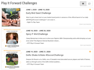 Fundraising Challenges - Play it Forward
