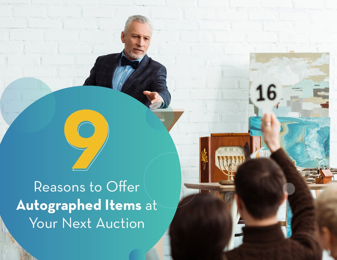 Explore these reasons to offer autographed auction items at your next virtual fundraising event.