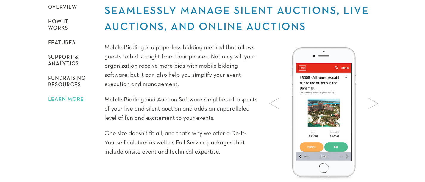 OneCause - Best Fundraising Software for Auction Events